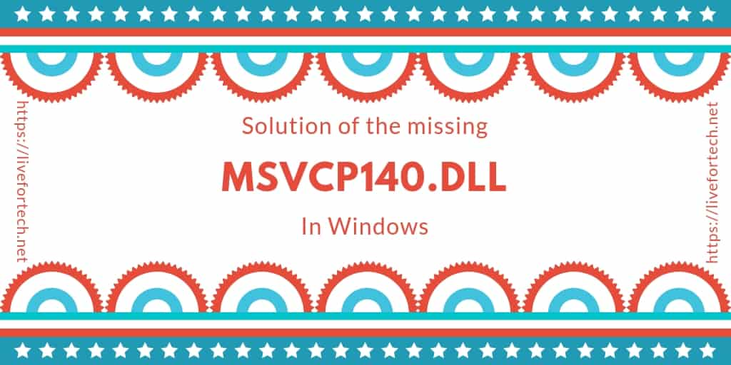 msvcp140.dll missing windows 8